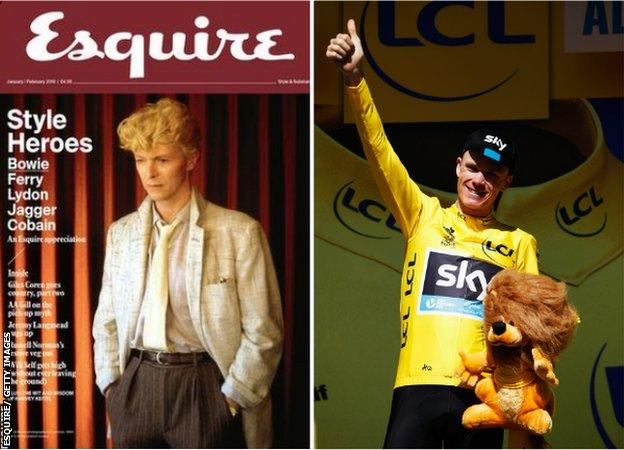 Esquire and picture of Chris Froome
