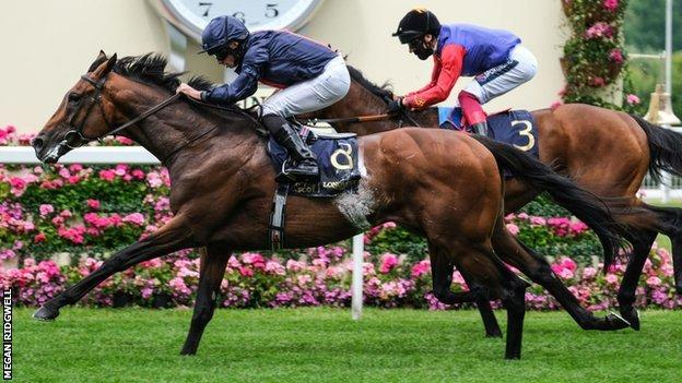 Russian Emperor beat First Receiver to win at Royal Ascot