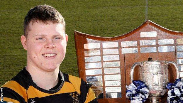 RBAI skipper Rory Adair is one of four captains who could lift the Schools' Cup in March
