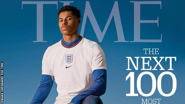 Marcus Rashford on the cover of TIME