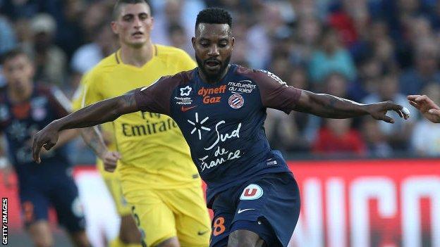 Benin's Stephane Sessegnon in action for Montpellier