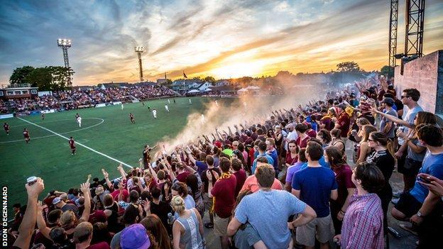 General scene at Detroit City home match