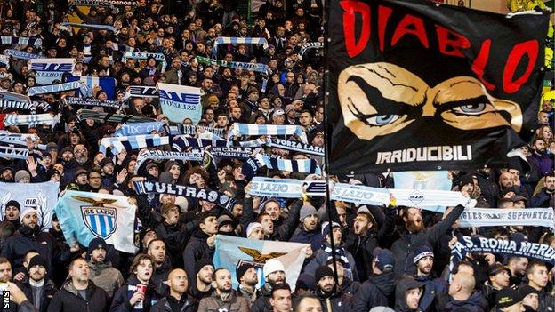 Lazio were punished for chanting by their fans at Celtic Park
