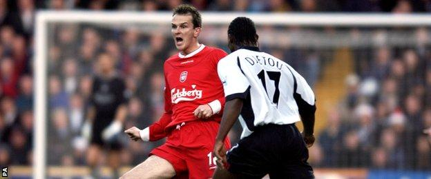 Dietmar Hamann in action for Liverpool