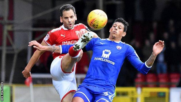 Ben Purkiss in action for Swindon Town