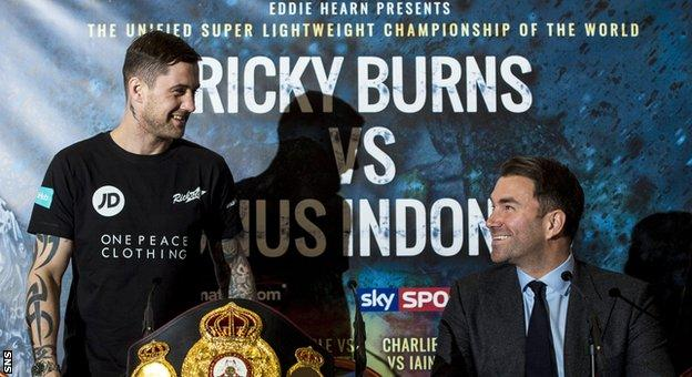 Ricky Burns and Eddie Hearn