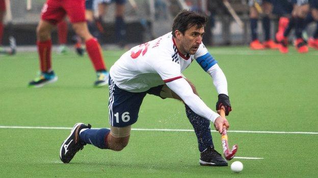 Adam Dixon in action for Great Britain