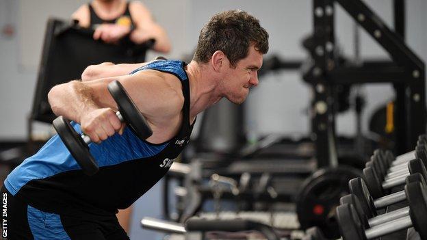 Ian Whitten training