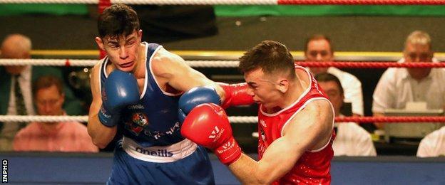 McKeever (left) lost the 2018 National Elite Senior Championship final to Kieran Molloy