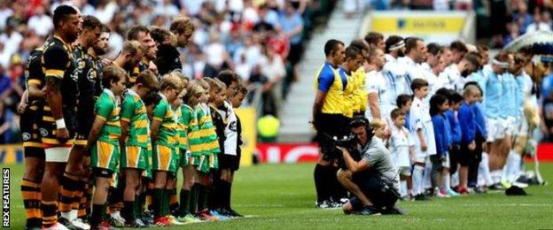There was a minute's silence observed at Twickenham for the attack in Manchester earlier in the week