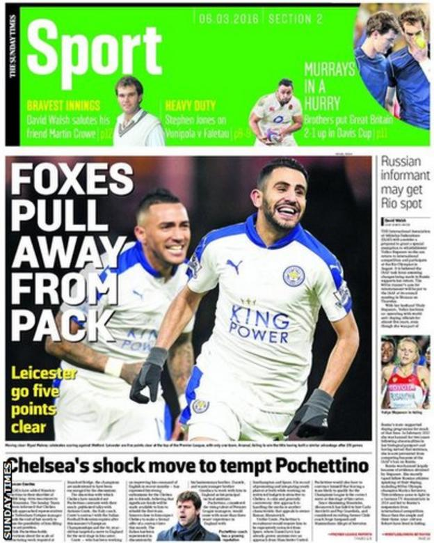 Sunday Times sport section