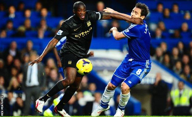 Yaya Toure and Frank Lampard