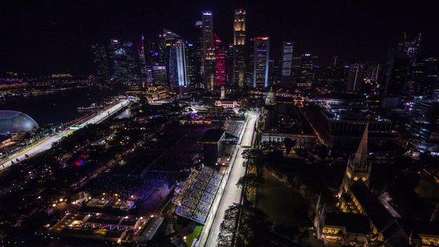 Marina Bay Street Circuit in Singapore