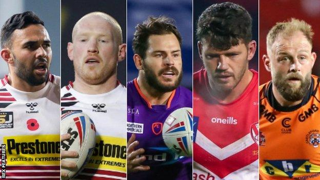 Bevan French, Liam Farrell, Aidan Sezer, Lachlan Coote and Paul McShane are in line to succeed last year's Steve Prescott Man of Steel award winner Jackson Hastings