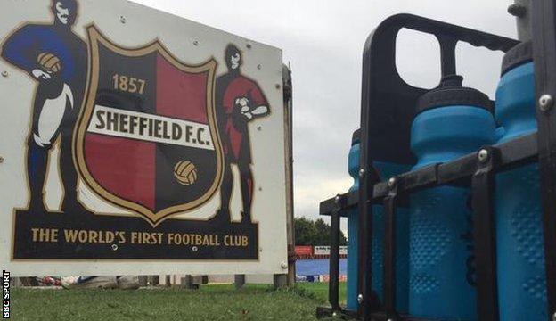 Sheffield FC touchline