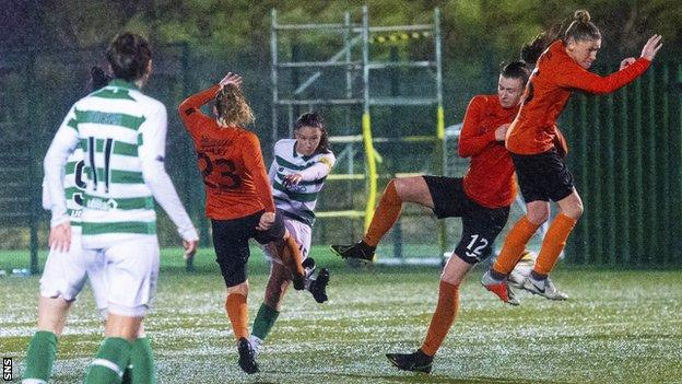 Kelly Clark's late goal earned Celtic consecutive wins over Glasgow City