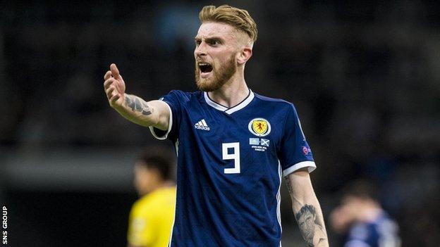 Scotland and Sheffield United striker Oli McBurnie