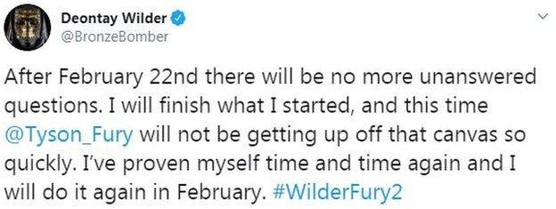 Deontay Wilder on Twitter