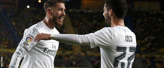 Sergio Ramos and Isco of Real Madrid