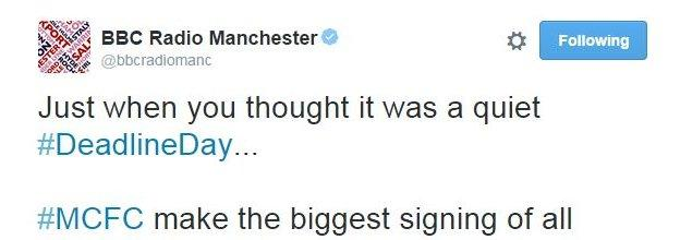 BBC Radio Manchester welcomes the news of Guardiola's arrival