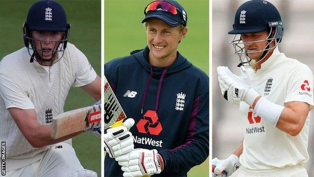 Zak Crawley, Joe Root and Joe Denly