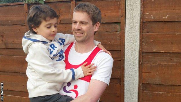 Jon Barbuti and his son Dylan