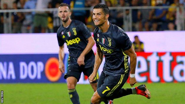 Italian Serie A Report: Ronaldo scores as Juve keep up perfect start with win at Frosinone