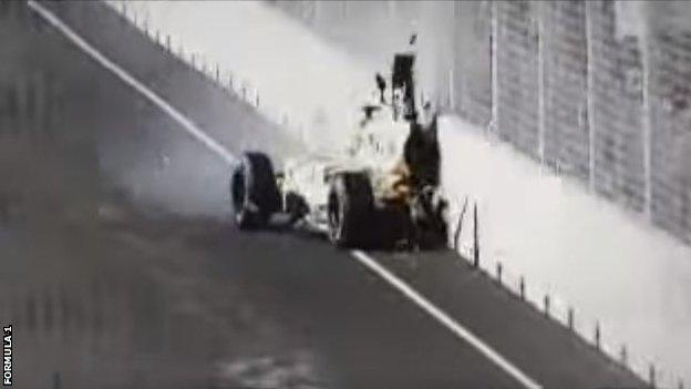 Piquet Jr crash 2008