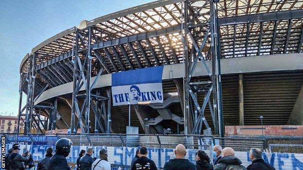 Diego Maradona: Napoli rename stadium after late club legend (2020)