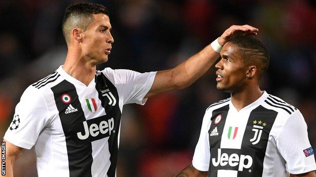 Cristiano Ronaldo and Douglas Costa
