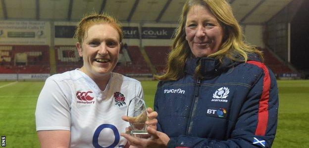 England's Harriet Millar-Mills was the outstanding player on the Broadwood pitch