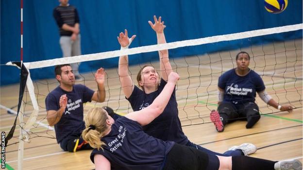 sitting volleyball