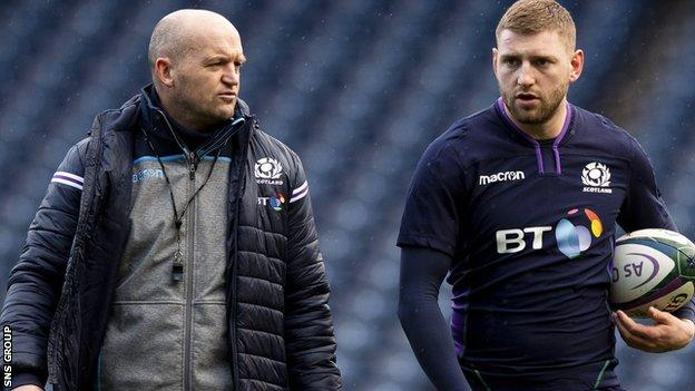 Finn Russell is back in the Scotland squad after a falling out with head coach Gregor Townsend