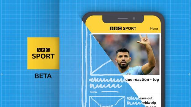 BBC Sport beta app promotional image