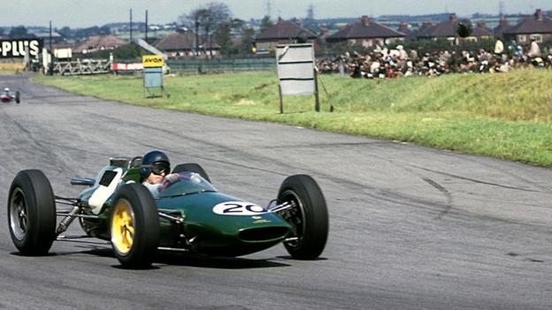 Jim Clark in a Lotus in 1962