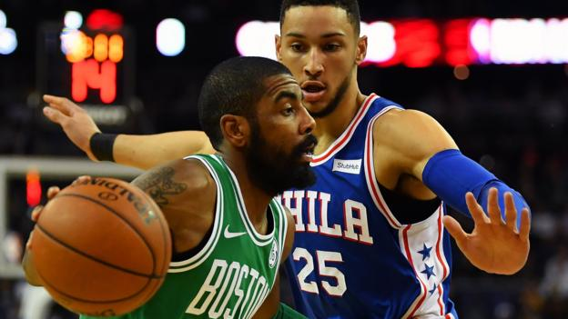 ec836c67b30b NBA  Boston Celtics beat Philadelphia 76ers at London s O2 Arena - BBC Sport