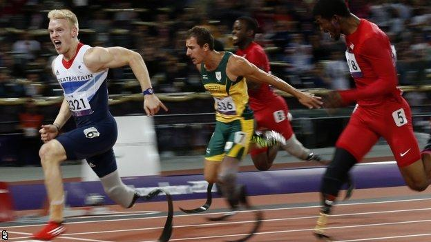 Jonnie Peacock won gold at the 2012 Paralympics in London