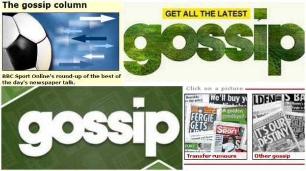 Gossip column logos