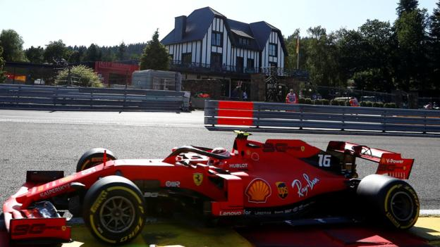 Charles Leclerc fastest in Belgian GP practice as close race expected thumbnail