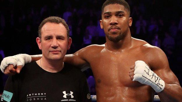 Rob McCracken and Anthony Joshua