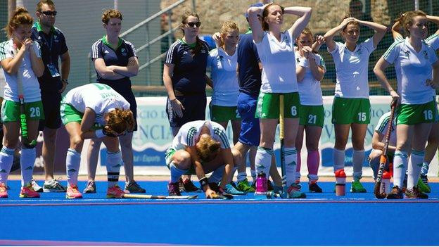 Agony for Ireland players in the penalty shoot-out against China