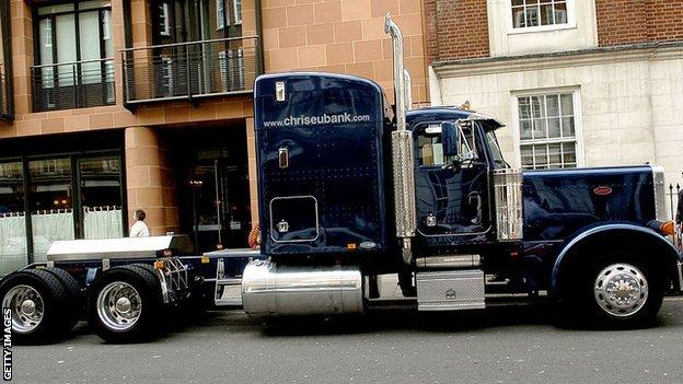 Boxer Chris Eubank's truck from 2006
