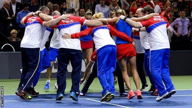 Czech Republic celebrate