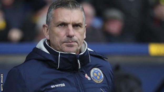 John Askey won just four of his 17 league games as Shrewsbury Town manager