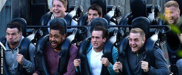 Some Wales players went to Thorpe Park on their midweek day off