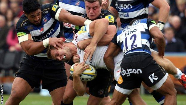 Bath against Exeter