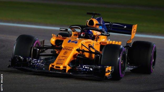 Fernando Alonso's most recent grand prix race was for McLaren in Abu Dhabi at the end of the 2018 season