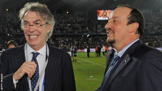Rafael Benitez won the Club World Cup and the Supercoppa Italiana at Inter Milan