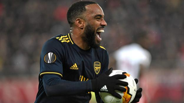 Olympiakos 0-1 Arsenal: Alexandre Lacazette helped by team-mates' support, says Mikel Arteta