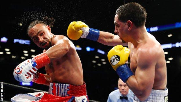 Keith Thurman (left) and Danny Garcia
